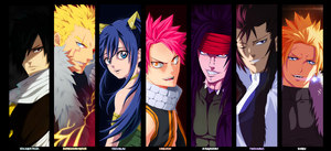 [Collab] Fairy Tail - 7 Dragon Slayer by hyugasosby