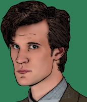 Matt Smith as Doctor Who by tygerbug