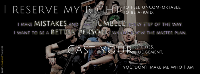 A Day To Remember Quote Facebook Cover by cutielou