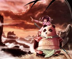 The girl and the panda by Zeng