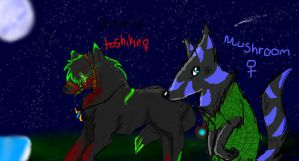 Wolves on iscribble by pikachupika129