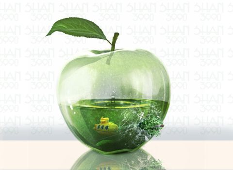 Glass Apple by shan3990