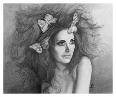 Blue Butterflies (Charcoal) by LonnyClouser