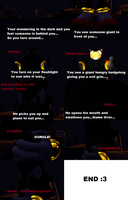 Shadow swallows you in the dark comic by SonicInflationLover