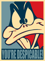 Daffy Duck: You're Despicable by MrAngryDog