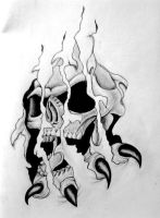 Skull Tattoo Design by tksb1981