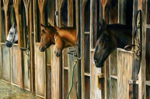 Glimpse of the Stable by AGillustration