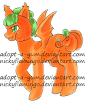 Mellowcreme  Pumpkin Bat Pony Adopt REDUCED! by adopt-a-yum