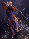 comm: gray fox by littleulvar