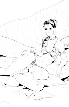 Princess Leia - Inks by MissAudi