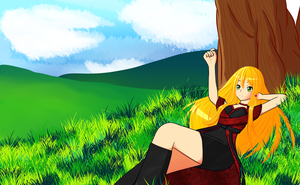 Yuzoey in the fields WIP by ShoranSenSaora