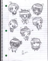 Chibi Doctors and friends by invadersharie