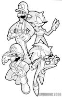 Super Mario Bros. Z Sketch by Kevinhink