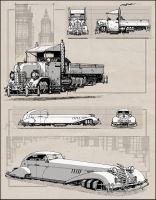 Dieselpunk Cars by RyanLovelock