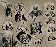 DA:O Sketch Sheet by Aelwen