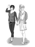 A Walk Together by BrownCoww