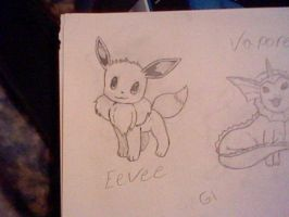 Eevee Sketch by UltimaCreations