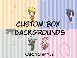 Naruto: Custom Box Backgrounds by DogloverXD