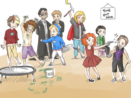 Avengers As Children by k-ibun
