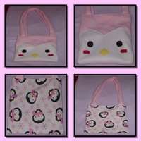Reverseible Penguin Bag by Romaji