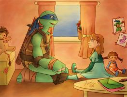 TMNT- Green and Pink Letters by dgLari