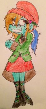 Puppet Smurfette colored by demonofnothing