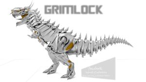 MY VERSION OF TF4 GRIMLOCK by doctorcocolia
