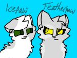 Featherpaw and Icepaw by IceWingOfTheNorth