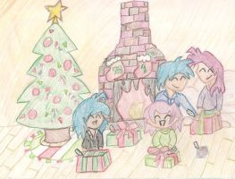 A Chibi Christmas by Uxie77