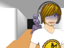 MMD - PewDiePie and Ao Oni by akatsukisgirl4ever