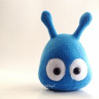 Blue Stuffed Alien Plush, Small Plushie by Saint-Angel