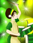 Toph on the Drums by MMemmyMM