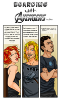 Boarding with the Avengers: Tony P.4 by Pyratesque