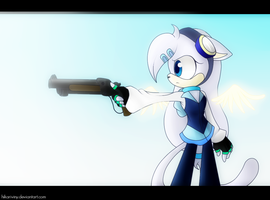 Angel with a shotgun by hikariviny