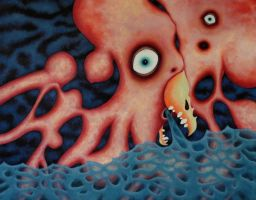 Georgie the Frightened Octopus Boy by bbyoung1971