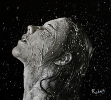 Water Splash Portrait by rak78374