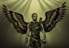 Roman-Scottish Archangel? by djinn-world
