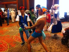 Ash and Mudkip(AFest 2014) by Hound-02