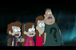 Mary, Dipper, Mabel, and Soos by waterbender412
