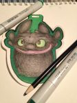 Toothless Badge by FeatherySketchDragon