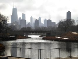 Skyline of Chicago by jesus-at-art