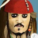 Captain Jack Sparrow by amanduhmiller