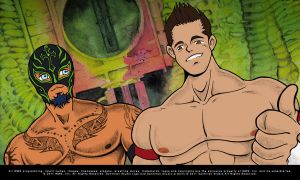 Because we can - Rey Mysterio and Evan Bourne by SantillanStudio