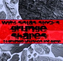 Grunge Shapes by Wyrd-Sistas-Stock