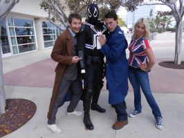 Agent Venom with The Doctor and his companions by pa68