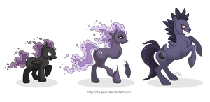 DarkShadow Family Ponikemon by MySweetQueen