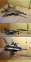 Precise card model: MiG-29 jet fighter by xaotherion