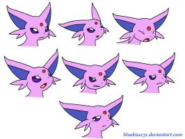 Request: Espeon Emotion Reference by Bluekiss131
