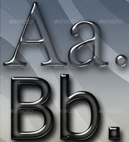 Elegant Glass Text Effects & Styles by freebiespsd