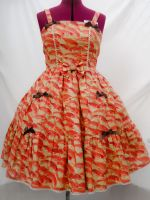 Tiered Golden Koi Dress by sweetmildred